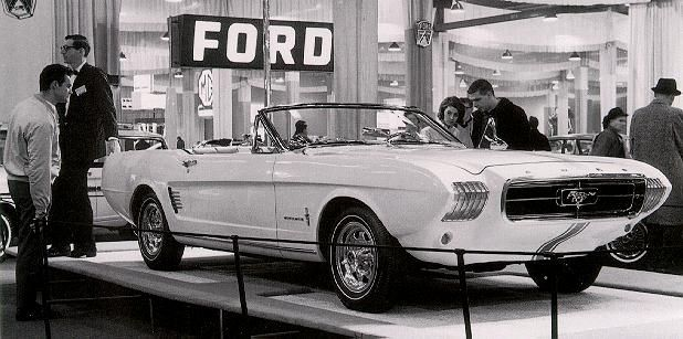 STRANGE 1963 FORD MUSTANG CONCEPT CAR - CONVERTIBLE - CHECK OUT THE FRONT END!