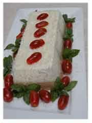 Terrine de albahaca y tomate. www.YoCocino.cl