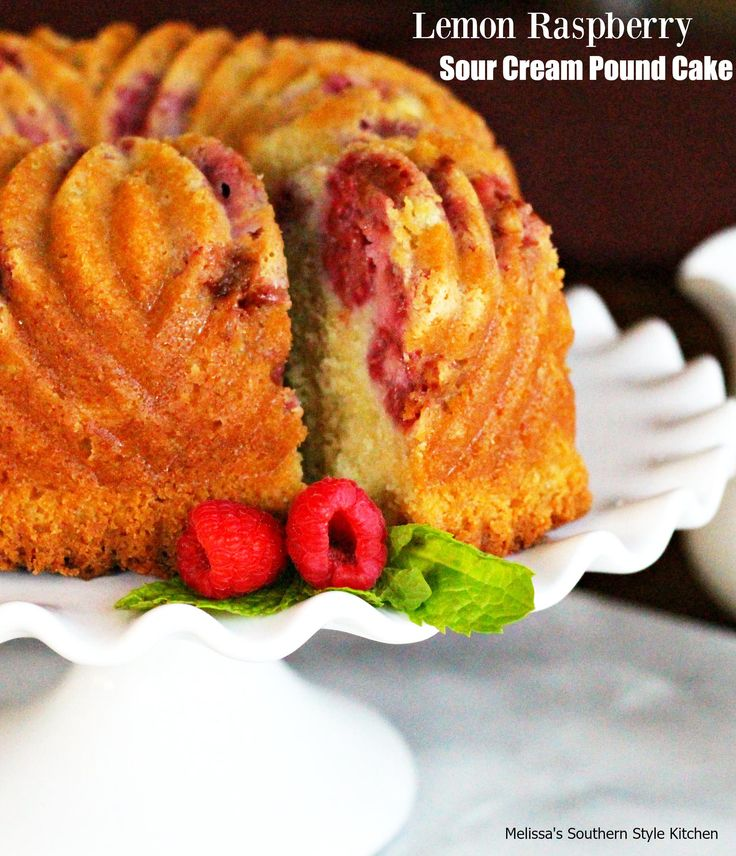 sour cream pound cake this lemon raspberry sour cream pound cake ...