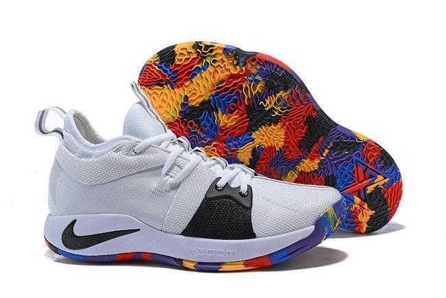 02ade0fa3de738 Mens Original Nike PG 2 March Madness White Black Multi Color Online  AJ5163-100