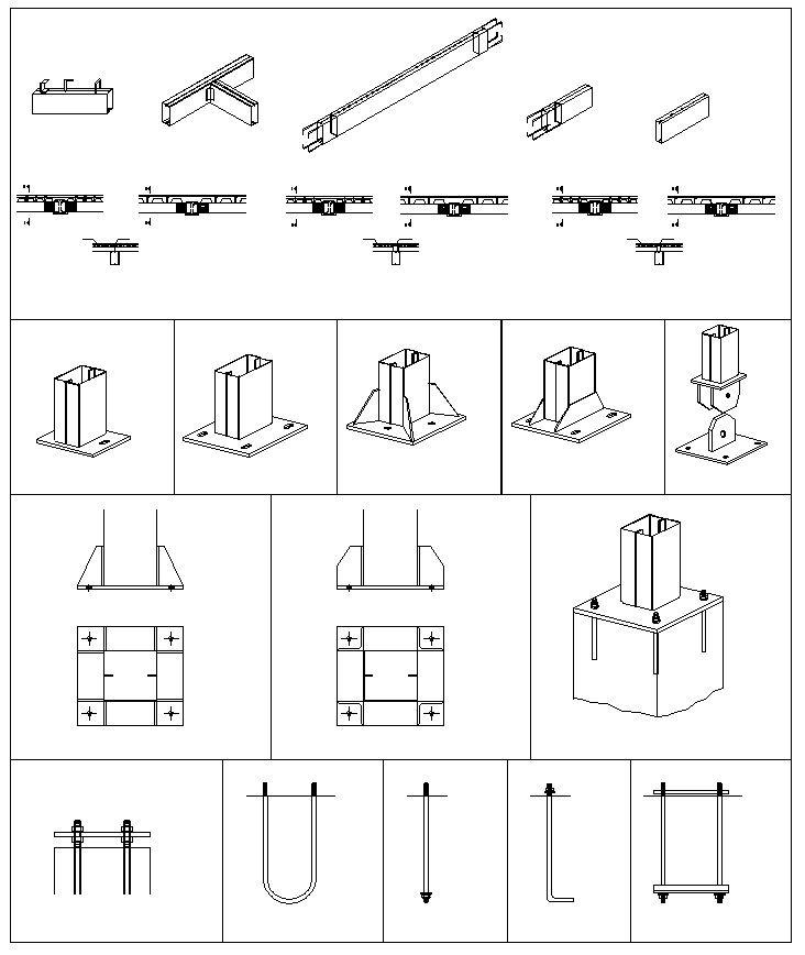 Steel Structure Details V3 – CAD Design | Free CAD Blocks,Drawings,Details