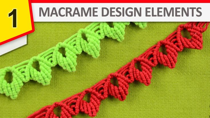 Macrame Design Elements - interesting elements for edge endings #Macrame #Design #Elements