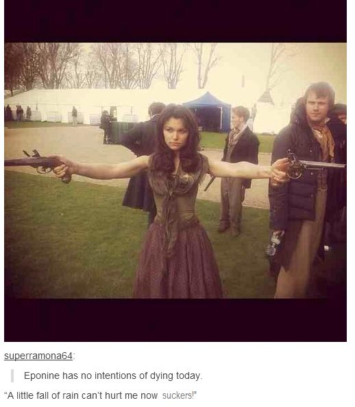 Ha! Joly's all in the background like 'ew don't touch those guns you don't know where they've been!'
