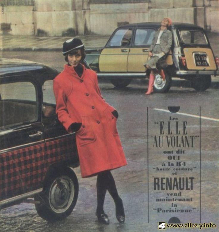 Renault 4 La Parisienne 1963_elle_au_volant