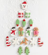 recette sugar cookies noel gourmand sucre glace cake design sapin bonhomme neige cadeau renne forme editions saxe edisaxe