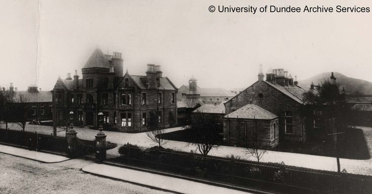Kings Cross Hospital, Dundee with Law (pre War-memorial) in background c 1900 #tbt #throwbackthursday #dundeeuni
