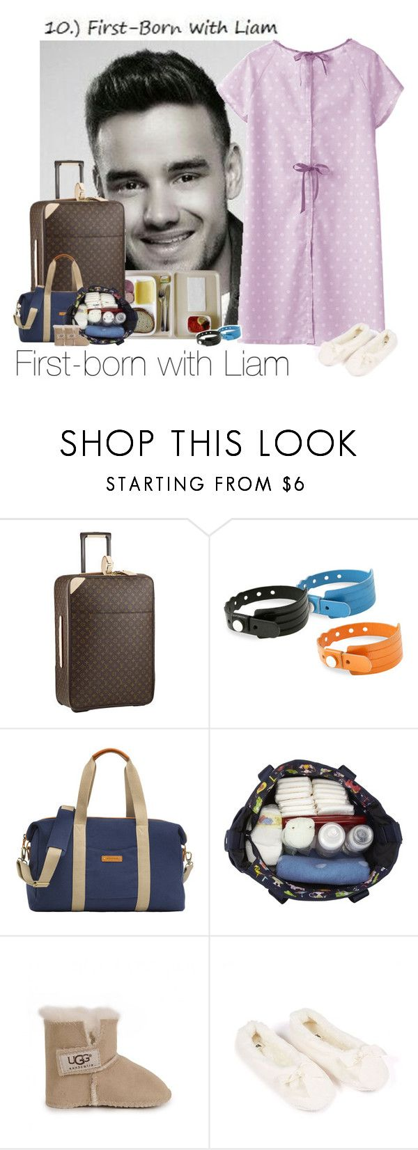 """First-born with Liam -day 10"" by haushuahusahuhushu ❤ liked on Polyvore featuring Louis Vuitton, Cast of Vices, Storksak, LeSportsac, UGG Australia, LiamPayne and daysofourlives"