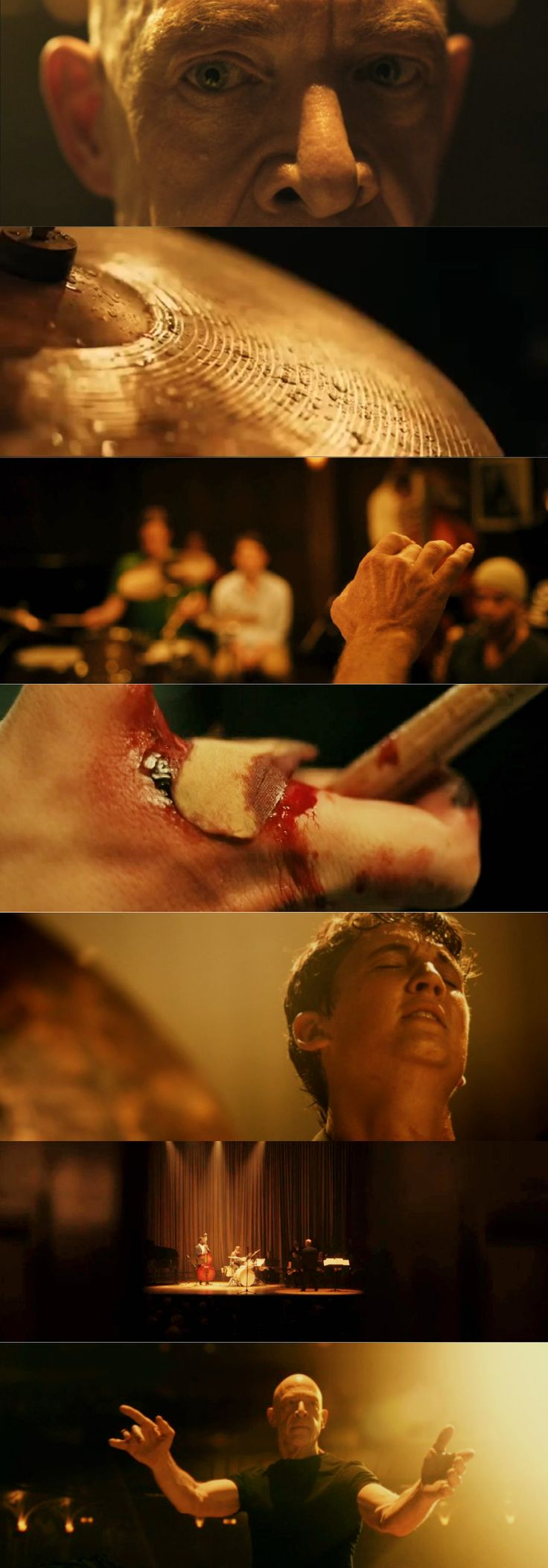 Whiplash / Golds (2014), d. Damien Chazelle, d.p. Sharone Meir. A taut and tense drama with great performances