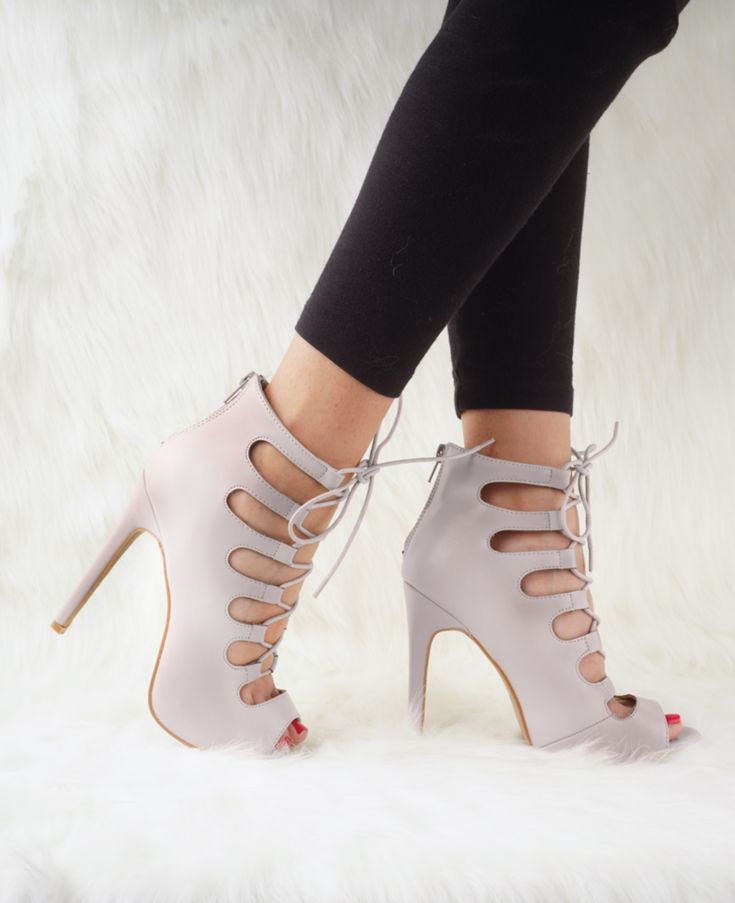 Alexis – Grey #shoeobsession Available in Black, Grey and Nude Faux Suede Back Z… – blue