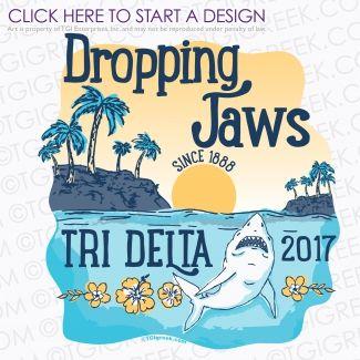 Delta Delta Delta | Tri Delta | ΔΔΔ | Spring Break | Sorority Spring Break | Spring Break Shirt | TGI Greek | Greek Apparel | Custom Apparel | Sorority Tee Shirts | Sorority T-shirts | Custom T-Shirts
