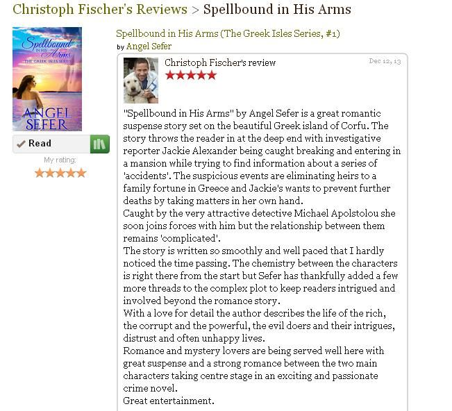 """Christoph Fischer's 5***** review for """"Spellbound in His Arms"""" on Goodreads"""