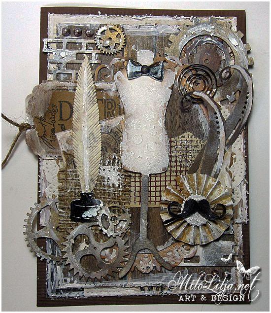 "Created by MiloLilja - Sweden • Instagram: milolilja • Pinterest: milolilja • Facebook: ""Milo Lilja - Art & Design"" • #scrapbooking #crafting #art #milolilja #cardmaking #paperart #shabbychic #artist #vintage #handmade #masculine #man #men #scrapiniec"