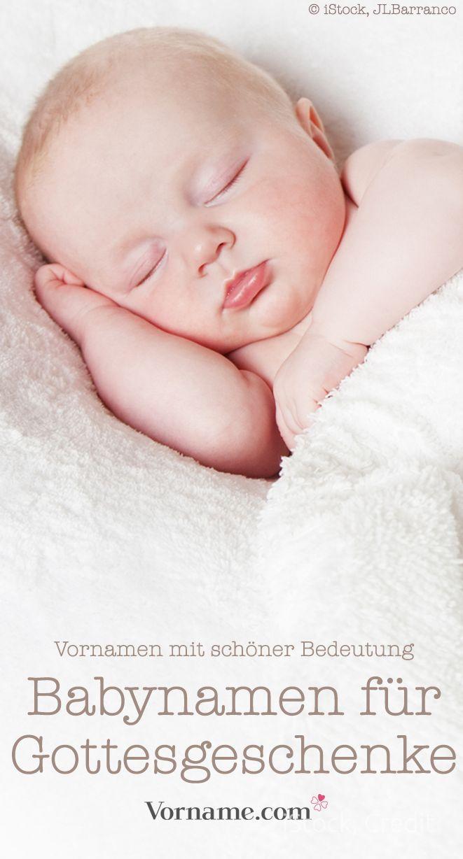 Himmlisch: Babynamen mit der Bedeutung Geschenk Gottes