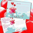50 Ballonflugkarten zur Hochzeit GELOCHT, Flugkarten für Hochzeitsballons im Set zum Hochzeitsspiel im Ballonflugkartenset - Hochzeit Herzballons