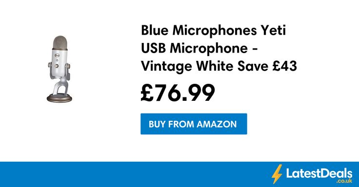 Blue Microphones Yeti USB Microphone - Vintage White Save £43, £76.99 at Amazon