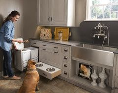 Now how convenient is that! - Great kitchen, pet-friendly ideas !