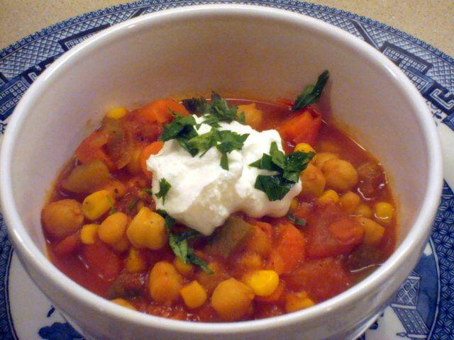 Vegetarian Chickpea Chili; a Clean Recipe!