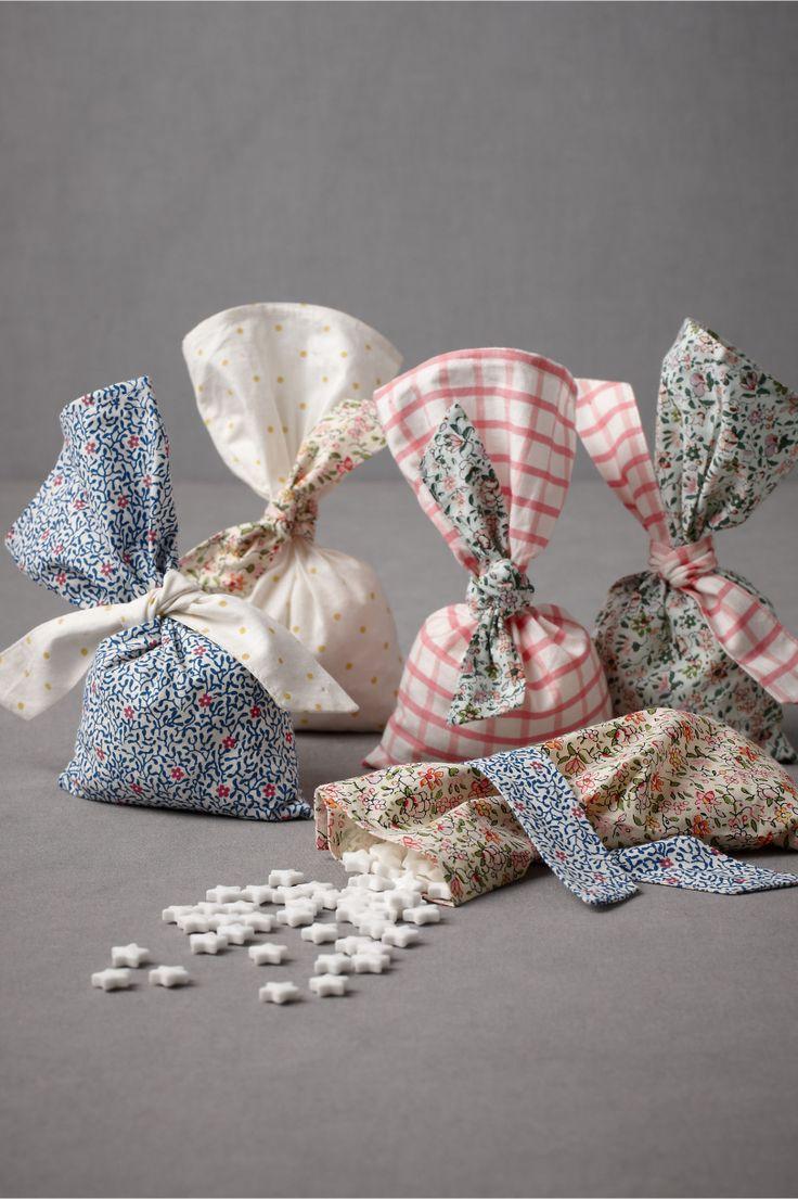 provincial favor bags// via BHLDN: Favor Bags, Fabrics Favors, Goodies Bags, Gifts Bags, Parties Favours, Fabrics Bags, Parties Ideas, Provincial Favors, Parties Favors Bags