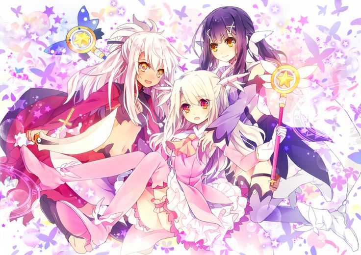 Fate/kaleid liner Prisma Illya 2wei! - Kuroe, Illya, and Miyu