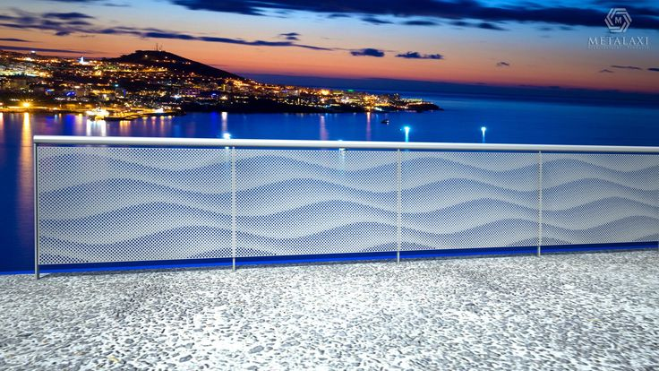 Aluminum perforated balustrades for balcony.  Διάτρητα κάγκελα από πάνελ Αλουμινίου. Metalaxi Innovative Architectural Products. www.metalaxi.com Life is in the details.