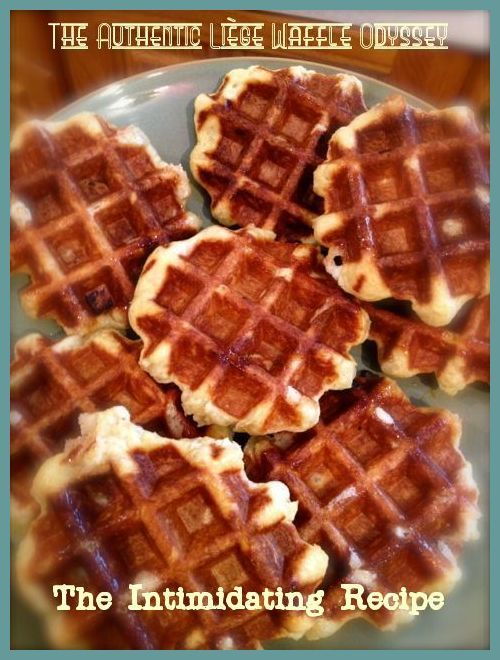 The Authentic (Belgian) Liège Waffle Odyssey: The Intimidating Recipe. I finally got my pearl sugar and took the leap! Yummy!