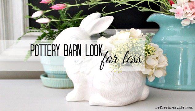 Ceramics are everywhere at Goodwill. Be on the lookout for a bunny to spray paint to create your own Pottery Barn Ceramic Bunny Look for Less!