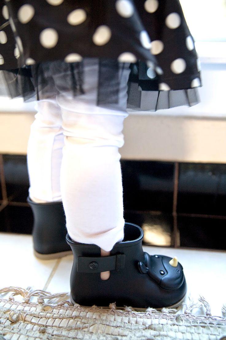 Mini Melissa Rain Boots / Photo via Grey Star Kids Blog