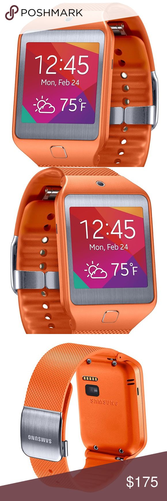 Brand New Samsung Gear 2 Neo Smart Watch Unisex Brand New Samsung Gear 2 Neo Smartwatch (Orange. This device can make and receive calls, monitor your heart rate, and create a personalized fitness motivator. Plus you can download hundreds of additional apps! Samsung Accessories Watches