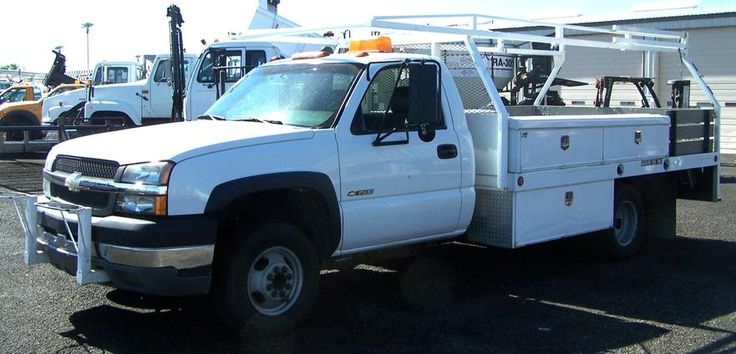 2003 Chevrolet 3500 Contractor Truck...Only 19,000 City Owned Miles Per Signed Federal Odometer Statement..6.0 Gas V8 Motor, Auto Transmission, Working AC ...Reciever Hitch..CTEC Contractor Body,  Full Size Spare ... ONLY $21,900 ... HD Trucks & Equip LLC .... Apache Junction,AZ .... (602) 510-5444