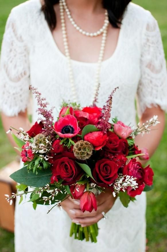 Red Wedding Inspiration... I like this