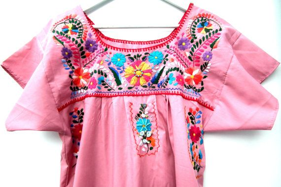 Check out Mexican dress, Fig embroidered dress,  Peasant dress,  flowers dress ,Mexican traditional dress,Embroidered mexican dress,Mauve dress Size M on zazaofcanada