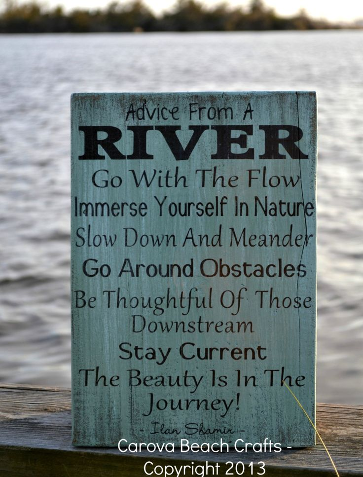 River Home Decor Advice River Wood Sign by CarovaBeachCrafts, $38.00
