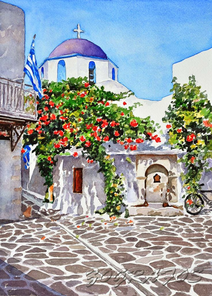 Paros Church by Pantelis Zografos