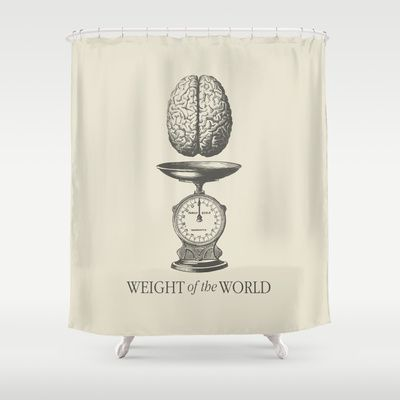 Weight of the World Shower Curtain by Nameless Shame - $68.00