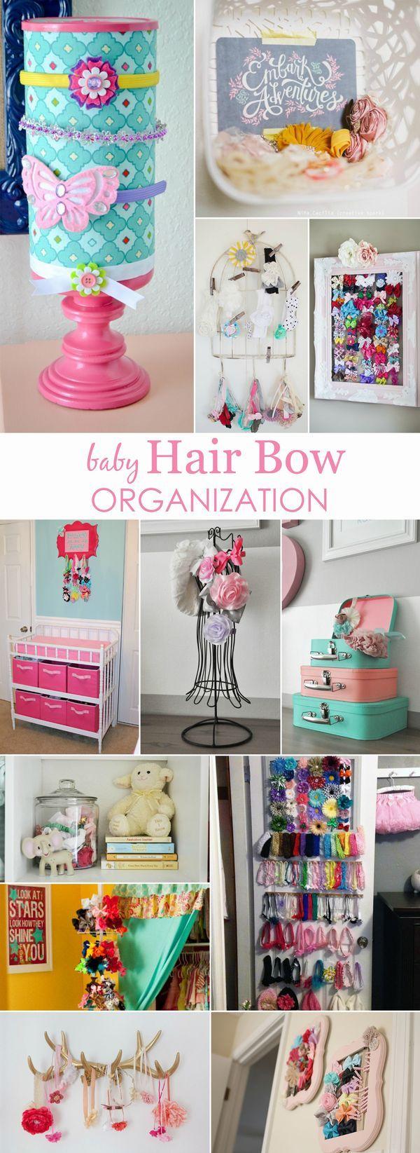 Creative Ways to Organize Baby Bows and Headbands #kids #girls #organization