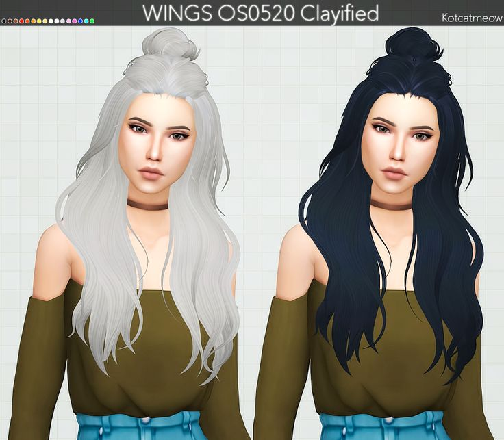 "kotcatmeow:  ""  WINGS OS0520 Hair Clayified Mesh by @wingssims. Thank you! :)  • Standalone  • Custom Thumbnail  • 16 EA Colors  • REQUIRES MESH BY WINGSSIMS!→ DOWNLOAD MESH  DOWNLOAD HERE  •  TERMS OF USE!  • Also my special thanks to all CC creators whose..."