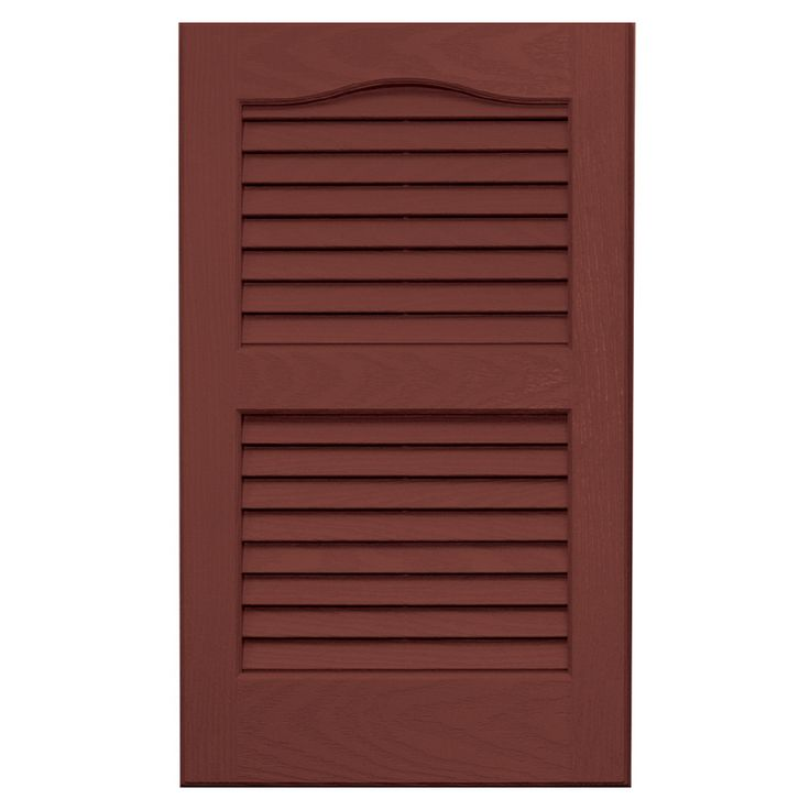 Vantage 2-Pack Cambridge Red Louvered Vinyl Exterior Shutters (Common: 14-in x 24-in; Actual: 13.875-in x 23.6875-in)