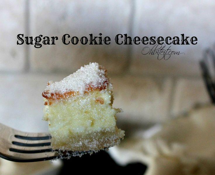 sugar cookie cheesecake recipe | Sugar Cookie Cheesecake! | Oh Bite It
