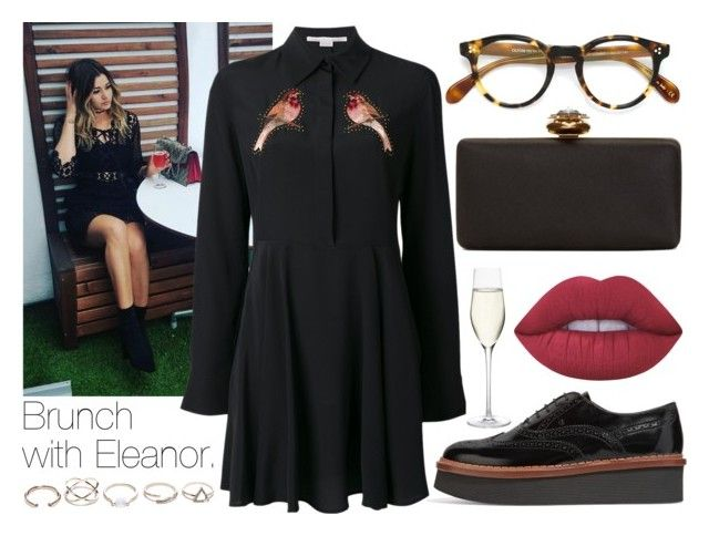 """Brunch with Eleanor."" by sunfayn on Polyvore featuring moda, Calder, STELLA McCARTNEY, Tod's, Oliver Peoples, Alexander McQueen, GUESS, Lime Crime e Nordstrom"