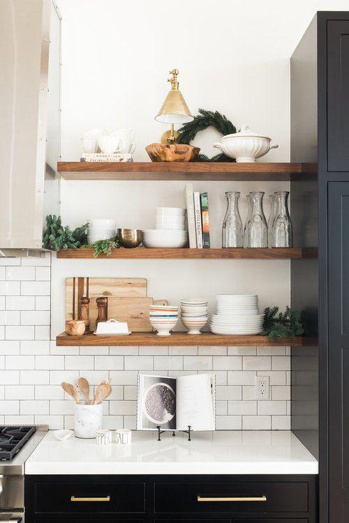 Holiday Open Kitchen Shelf Styling