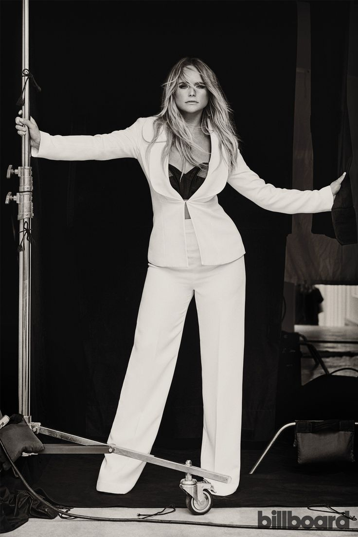 Miranda Lambert photographed June 23 at White Avenue Studio in Nashville. Styling by Tiffany Gifford. Lambert wears a Brandon Maxwell suit, Maidenette bra from New York Vintage, Giuseppe Zanotti shoes, Maxior and Jennifer Fisher rings.