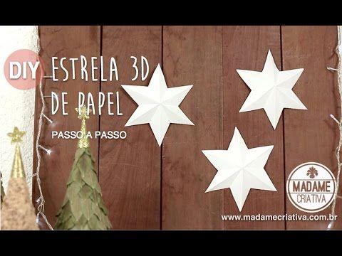 Video Passo a Passo: Estrela 3D de 6 pontas - Estrela de papel super fácil de fazer - Decoração de Natal econômica - Madame Criativa - O melhor Portal DIY do Brasil - Decoração, Artesanato, Festas, Receitas e Ideias