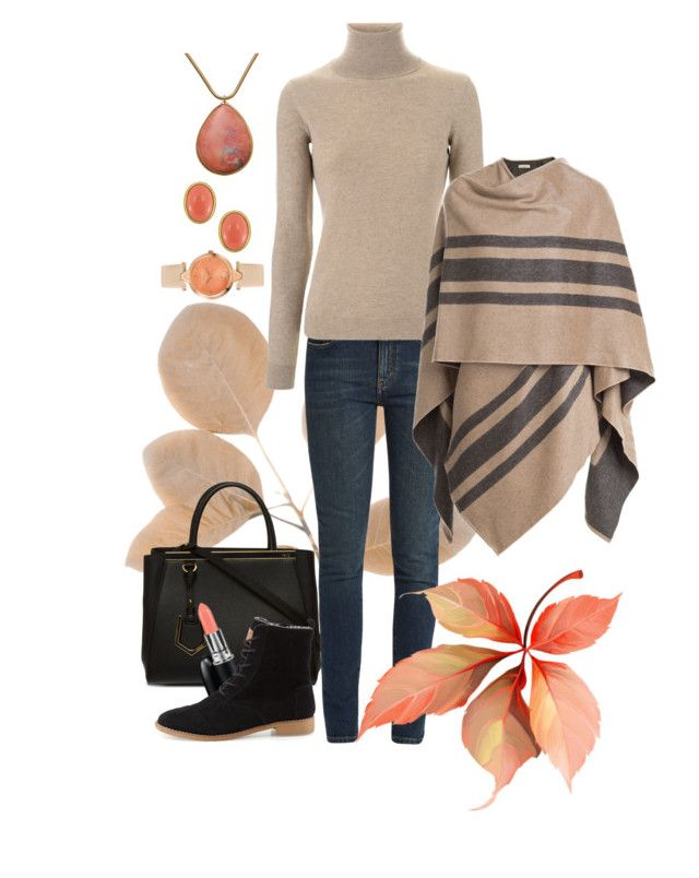 """Nice Fall Trip"" by anna-jarovaja-v on Polyvore featuring Fendi, MAC Cosmetics, TOMS, Yves Saint Laurent, Ralph Lauren, Burberry and Kenneth Jay Lane"