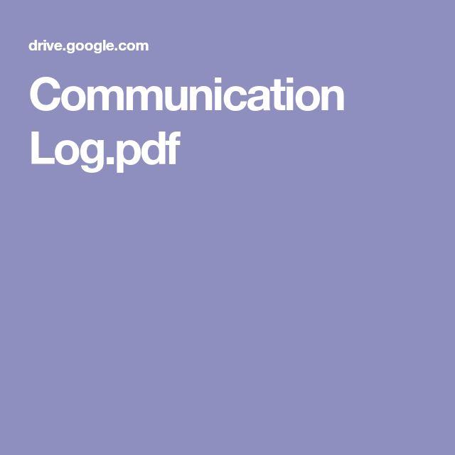 Best 25+ Communication log ideas on Pinterest Parent - communication log template