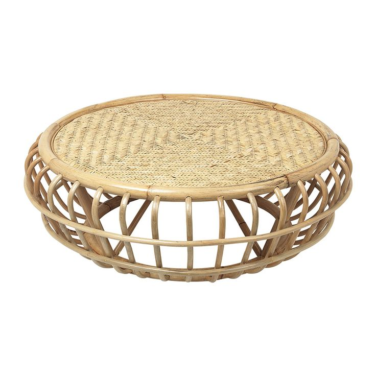 bring distinctive nordic style to the home with this rotin rattan pouf from broste copenhagen