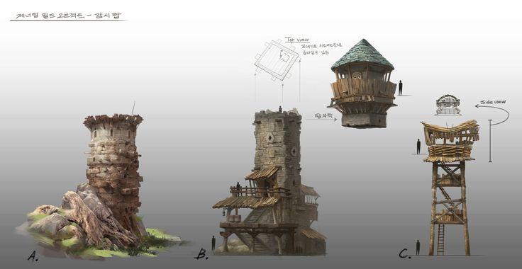 ArtStation - watch tower-old work, HyunHo Park