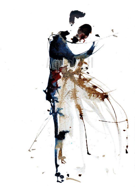 Aquarelle Mariage Plume illustration à par AtelierAquanell