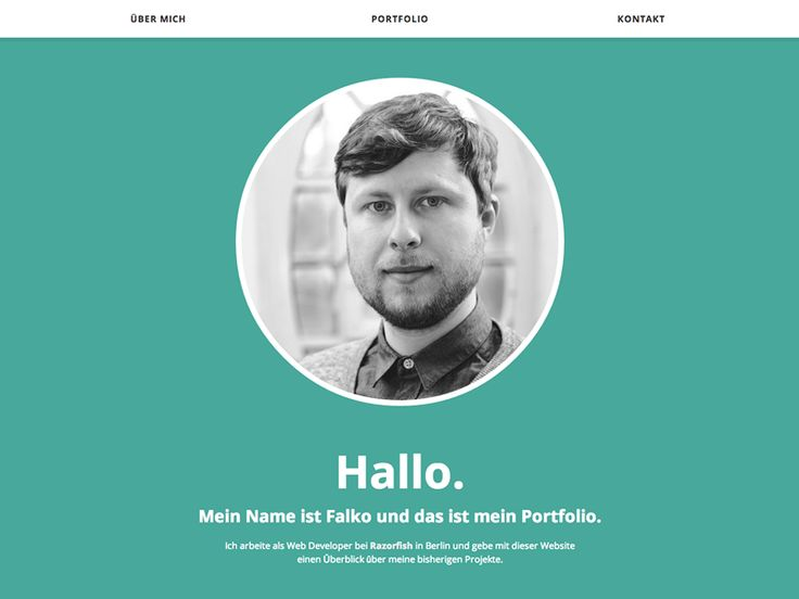 Simple and effective portfolio by Falko Behr