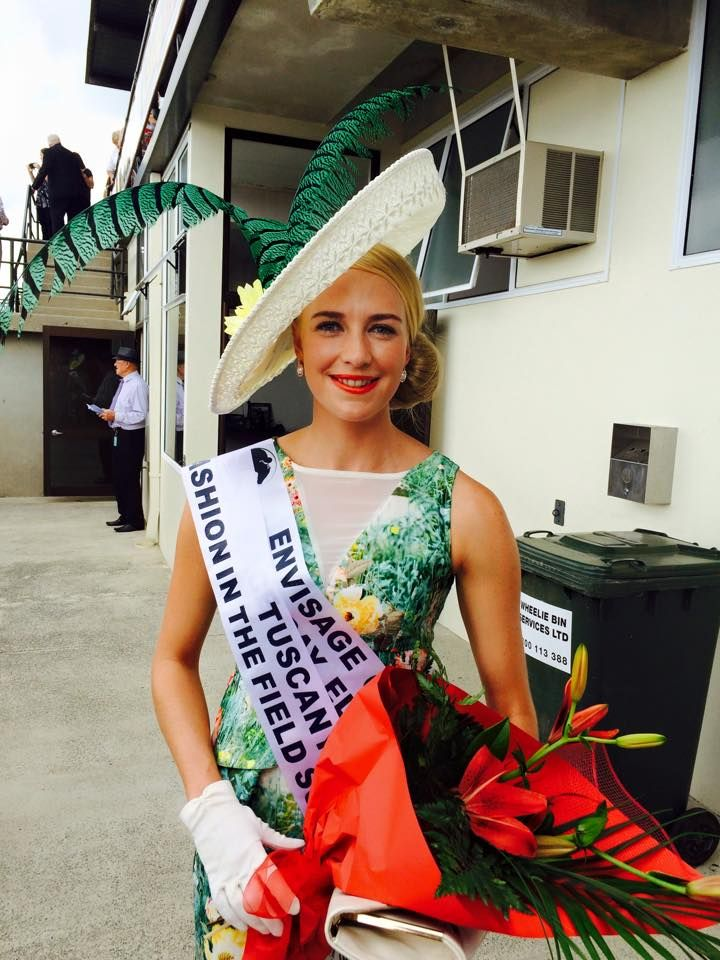 Alisha Maxwell winner of fashion in the field at Matamata races