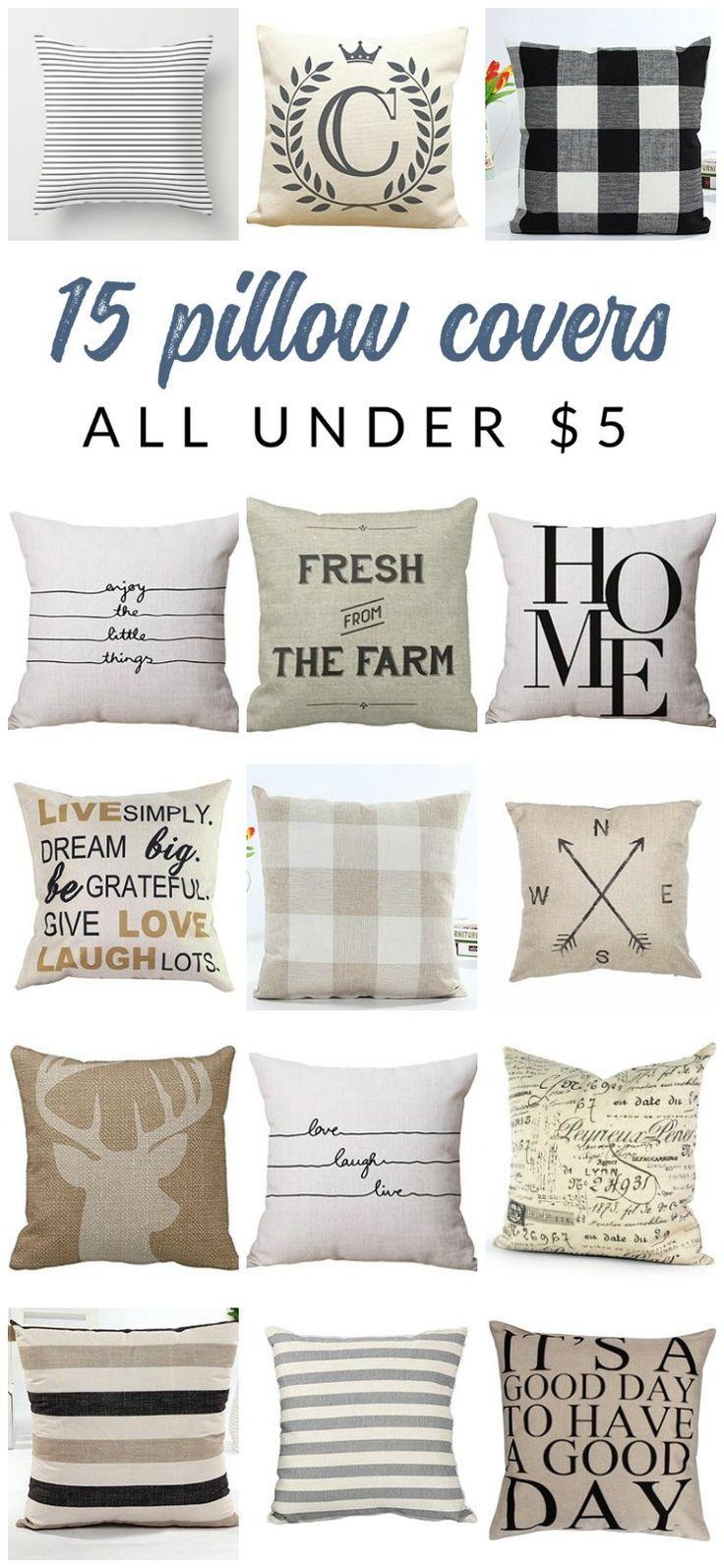 cheap farmhouse pillow covers online